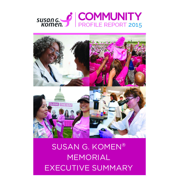 Komen Memorial Executive Summary Cover Page